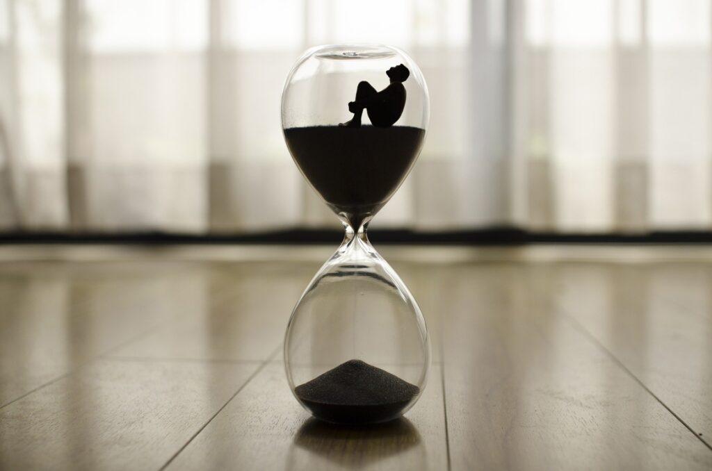 sablier temps perdu désordre