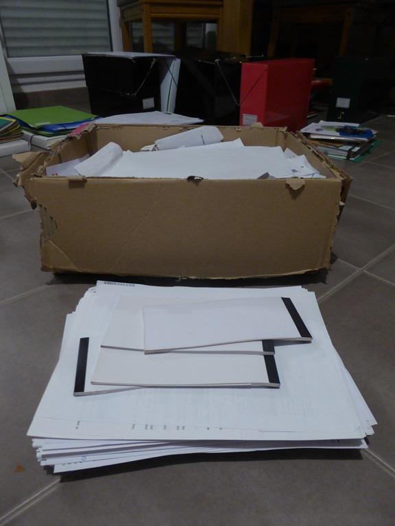 Papiers administratifs à jeter