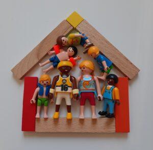 Maison trop petite encombré famille