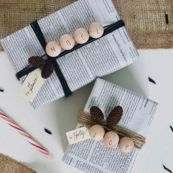 paquet cadeau papier journal alternative