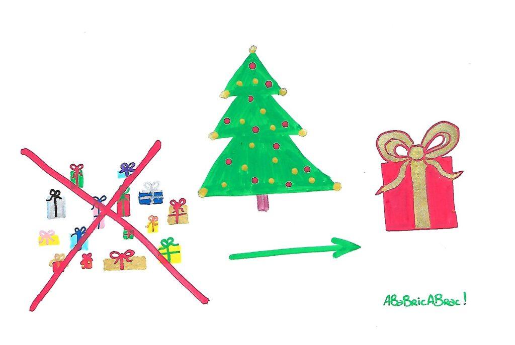 cadeau commun fin multitude cadeaux Noël enfants