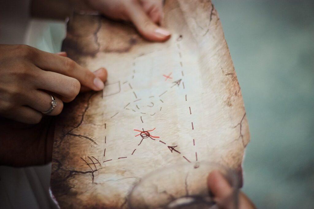 chasse aux cadeaux noël carte trésor alternative papier cadeau