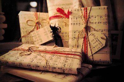 aternative paquet cadeau partition note musique