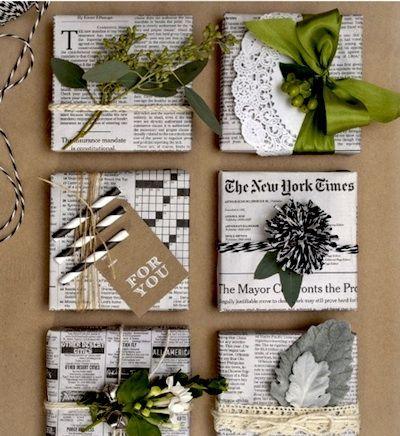 alternative papier cadeau papier journal