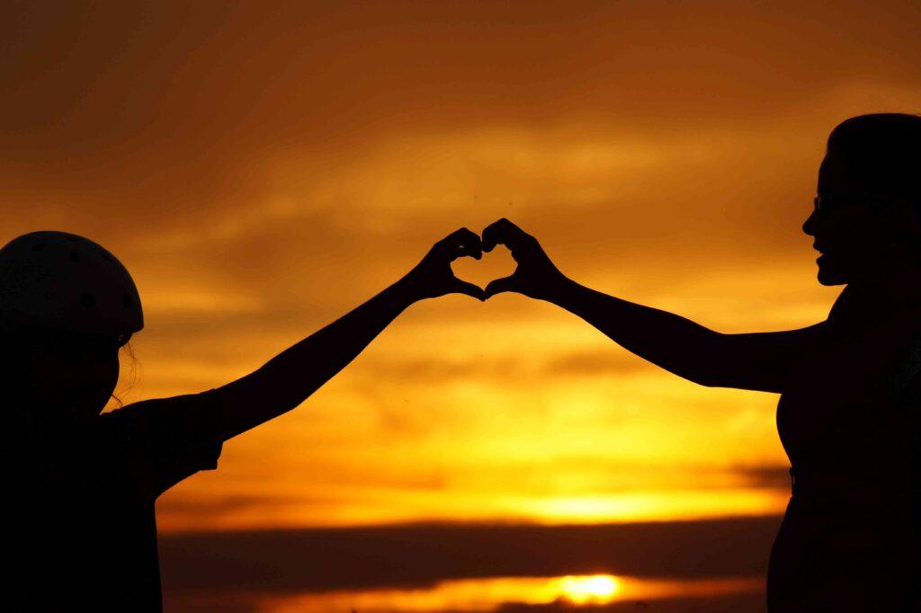 coeur amour parent enfant cadeau noël