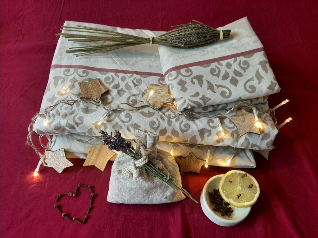 ranger facilement draps parfum linge de lit lavande girofle